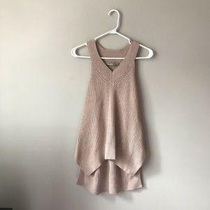 ALL SAINTS pale pink halter vest top
